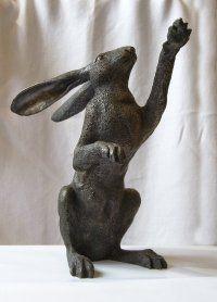 Oriele Bronze Hare Jack Rabbit, Rabbit Art, Bunny Rabbit, Rabbit Sculpture, Sculpture Art, Sculptures, Hare Images, Funny Hedgehog, Sam Cannon