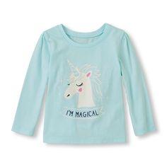 Long Sleeve 'I'm Magical' Glow-In-The-Dark Unicorn Graphic Tee