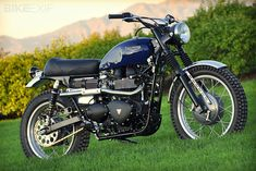 Mule Motorcycles transforms a 2007 Triumph Scrambler into a 1960s-style 'desert sled'. How cool is that?