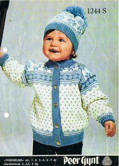 Knitting For Kids, Crochet For Kids, Baby Knitting, Crochet Baby, Knit Crochet, Sweater Knitting Patterns, Knit Patterns, Norwegian Knitting, Baby Barn