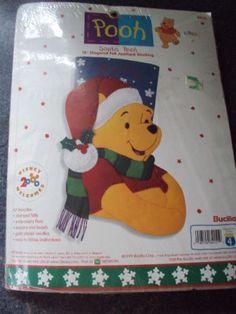Details about Bucilla Winnie the POOH Felt Applique Christmas Door ...