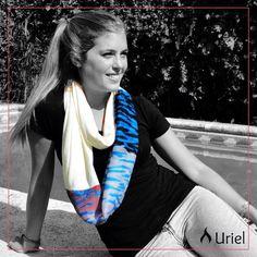 El animal print está súper de moda en varios colores! Elegí tu preferido! Pañuelo infinito de tela estampada y modal liso  www.instagram.com/uriel.mujer