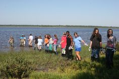 High school students transport and build the first section of an #oyster #reef #restoration
