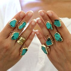 Raw Stone Ring, Raw Turquoise Ring, Girlfriend,Stacking Ring, Turquoise Ring, Turquoise, Turquoise Jewelry,Boho Ring, Gold Stacking Ring,Gemstone Ring. * Love... Love.. beautiful piece of raw turquoise, wonderful minimal statement. ♣ Gemstone -Turquoise. ♣ Stonse size - 0.7 inches , 2 cm approx. ♣ Metal - Thick Layer of 1 micron 24K gold plated over brass, nickel free. ♣ Ring - choose your size ( US sizes). ♣ Beautifully packaged, ready for gift giving. ♣ Each piece is MADE BY HAND solder...