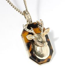 Gold Deer Head Pendant Necklace  Princess Vera Wang (Kohl's) $16.80