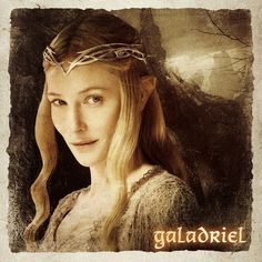 Galadriel (Altariel) daughter of Finarfin (son of Finwë) and his wife Eärwen (daughter of Olwë, the brother of Elwë and Elmo (grandfather of Celeborn and Galathil).