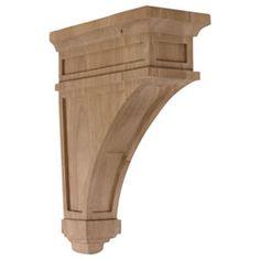 "Wood Corbels COR04X10X13AR 4 1/2""W x 10""D x 13 3/4""H Arlington Corbel"