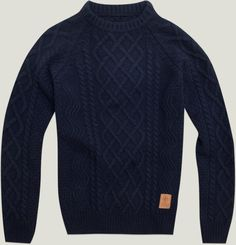 Heavy-weight men's sweater with embroidery and F & M logo