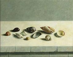 Henk Helmantel Beach Images, Dutch Artists, Fashion Painting, Sculpture, Painting Inspiration, Still Life, Contemporary Art, Flora, Shells