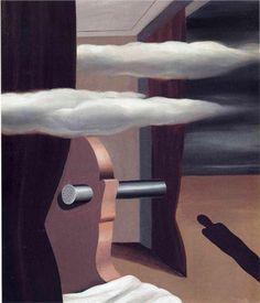 Rene Magritte -  The catapult of the desert, 1926 - WikiPaintings.org