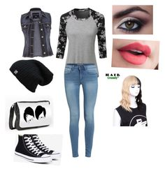 """""""Untitled #19"""" by aubrey-corbett on Polyvore featuring beauty, LE3NO, maurices and Converse"""