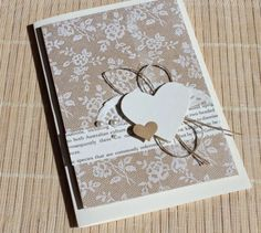 card with heart hearts ✿ MM-Creative ✿: I Love Lace Pretty Cards, Love Cards, Wedding Anniversary Cards, Wedding Cards, Karten Diy, Valentine Greeting Cards, Beautiful Handmade Cards, Get Well Cards, Card Tags