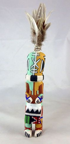 Territorial Indian Arts  Nice little wall hanger by Kevin Chavarria, the Aya or Rattle Kachina