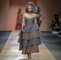 Fashion ideas on modern african fashion 058 African Wear Dresses, Latest African Fashion Dresses, African Print Fashion, African Attire, African Clothes, African Prints, Sesotho Traditional Dresses, South African Traditional Dresses, Traditional Wedding