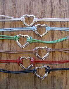Leather Strand Heart Bracelet – 6 Colors at VeryJane.com
