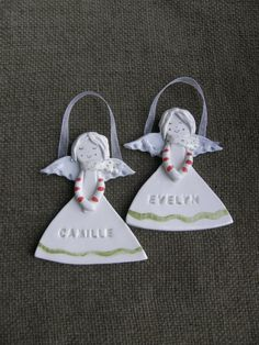 Personalized Angel,Ceramic Angel with Name Stamped,Guardian Angel,Christening,Baptism,First Communion,Godmothers gift,Christmas gift