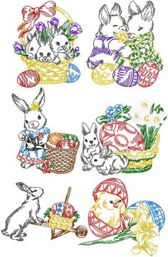 Advanced Embroidery Designs - Easter Bunny Set $15