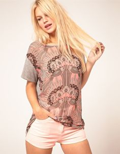 ASOS Top with Woven Mirror Bird