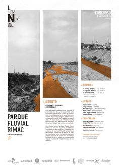 Gallery of Ideas Competition for the Rímac Fluvial Park: Exploring the relationship between the city of Lima and the banks of its rivers - 1 - Layout Graphic Design Magazine, Magazine Design Inspiration, Magazine Layout Design, Layout Inspiration, Graphic Design Inspiration, Design Ideas, Page Layout Design, Graphic Design Layouts, Web Design