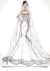 Wedding Dress Sketches! Have your gown sketched by Illustrative Moments