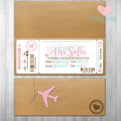 Passport Wedding Invitations, Wedding Planner, Destination Wedding, Aviation Wedding Theme, Boarding Pass Invitation, Ticket Invitation, Pink Paris, Print Calendar, Handmade Birthday Cards