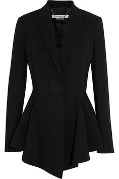 GIVENCHY Peplum Blazer In Stretch-Crepe. #givenchy #cloth #jackets