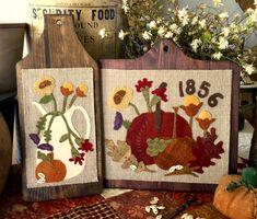 """NEW!  #281 """"Autumn Grace"""" Wool Appliqué"""