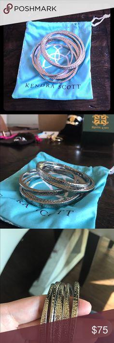 Vintage Kendra Scott Bangle Bracelets Vintage Scott Kendra Scott Bangle Bracelets. Like New condition. Kendra Scott Jewelry Bracelets