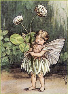 ≍ Nature's Fairy Nymphs ≍ magical elves, sprites, pixies and winged woodland faeries - The Clover Fairy