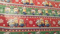 Wrapping Despicable Me Minions Holiday Paper Gift Greetings 1 Roll Design Festive Wrap Red Minion,,Christmas Day Products,Gifts Products Minion Christmas, Christmas Toys, Christmas Wrapping, My Minion, Minions, American Greetings, Paper Gifts, Vintage Prints, Wraps