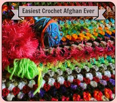 Crochet Afghans Easy Easiest Crochet Project Ever - when people learn to crochet, they want to actually make something. This, what I call my easiest crochet project ever is the first project I use when I teach crochet. Beginner Crochet Projects, Crochet Patterns For Beginners, Crochet Tutorials, Crochet Ideas, Easy Patterns, Crochet Instructions, Pattern Ideas, Scrap Yarn Crochet, Crochet Crafts
