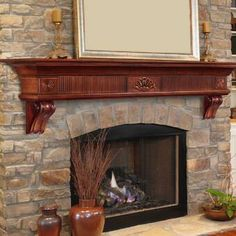 Hottest Pic Fireplace Mantels contemporary Thoughts Complete the fireplace of your home with the Pearl Mantels The Devonshire Fireplace Mantel Shelf. Fireplace Mantel Surrounds, Fireplace Shelves, Mantel Shelf, Fireplace Hearth, Fireplace Inserts, Fireplace Ideas, Fireplace Makeovers, Mantle Ideas, Rustic Fireplaces