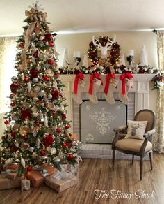 The Fancy Shack: Christmas Home Tour... Everything everything everything about this decor is perfect!