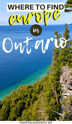 Did you know there are a ton of places in Ontario that feel or look like Europe? Discover where you can find Europe in Ontario without the airfare.