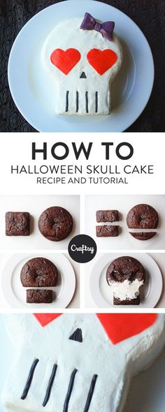 This skull cake is spooky for any Halloween celebration, but it's easy enough to make with kids. Get the FREE cake dec tutorial on Craftsy!