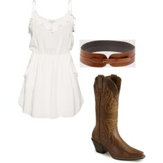 Cowgirl Set, created by kaileyanncarter on Polyvore