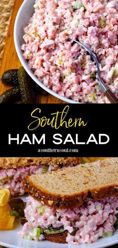 Recipes With Cooked Ham, Ham Salad Recipes, Pork Recipes, Cooking Recipes, Baked Ham Recipes, Recipes Using Ham, Easy Ham Recipes, Sandwich Recipes, Salads