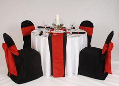 Red, White & Black Setting