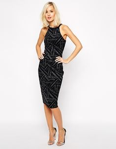 River Island Sequin Panelled Bodycon Dress