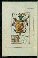 Walters Ms. W.736 Shelf mark W.736  Manuscript Certification of Arms and Genealogical Treatise  Text titleGenealogy and Heraldy Author As-written name: Don Ramon Zazo y Ôrtega Known as: Don Ramon Zazo of Ortega  Date 25 November-2 December, 1782 CE  Origin Madrid (Spain)