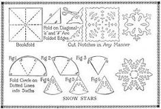 Image result for easy paper snowflakes how to