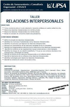 CENACE - UPSA - Taller Relaciones Interpersonales