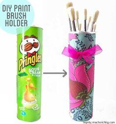 Organise art supplies, brushes, pencils, everythin