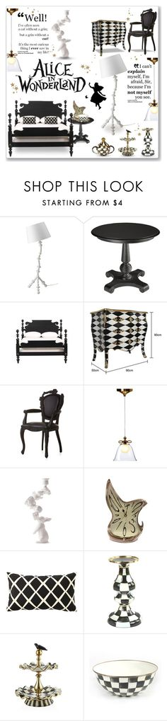 """""""Alice in Wonderland"""" by helleka ❤ liked on Polyvore featuring interior, interiors, interior design, home, home decor, interior decorating, Ethan Allen, Moooi, Artecnica and Burton"""