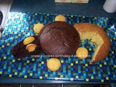 Homemade Crocodile Cake Design: I made this fun Crocodile Cake Design for my kids' summer camp which had a crocodile theme. I baked two 12 inch round cakes, one 10 inch round cake, and