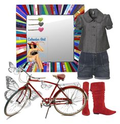 """""""Bicycle Girl"""" by fantasygirl1 ❤ liked on Polyvore featuring art"""