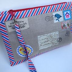 Airmail pouches - Trilliumshoppe on etsy by Trilliumdesign ~ Caroline, via Flickr