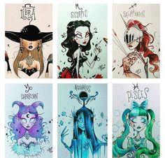 Zodiac Art – Libra through Pisces Zodiac Art – Libra through Pisces Le Zodiac, Anime Zodiac, Zodiac Memes, Zodiac Horoscope, Cancer Zodiac Art, Arte Do Hip Hop, Zodiac Characters, Zodiac Sign Fashion, Tim Burton Style