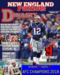 c1e5d32d52e New England Patriots GRONK-EDELMAN-BRADY AUTOGRAPHED RP-DYNASTY COVER PHOTO  8X10 #OCEANSTATEMINTUSA #NewEnglandPatriots