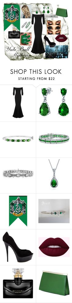 """Yule Ball ~ Slytherin"" by makayleehwakins ❤ liked on Polyvore featuring KamaliKulture, Bling Jewelry, Truth or Dare and Valextra"